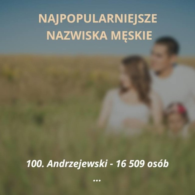 """Oto sto najpopularniejszych nazwisk męskich w Polsce. Jesteś ciekaw, czy Twoje nazwisko jest wśród tych najczęściej spotykanych? Sprawdzisz to na naszej liście!   ZOBACZ TEŻ: Lista 69 """"zakazanych"""" imion w Polsce"""