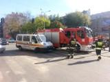 Wypadek busa MPK na skrzyżowaniu Kilińskiego i Jaracza