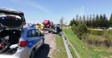 Wypadek na drodze Słupsk - Ustka we Włynkówku. Zderzyły się trzy auta [ZDJĘCIA]