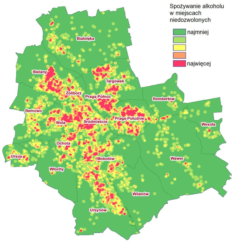 Alkoholowa Mapa Warszawy Gdzie Najczesciej Pije Sie Nielegalnie