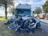 Ostaszewo. Śmiertelny wypadek pod Toruniem. Kierowca zginął na miejscu! [Nowe zdjęcia]