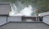 Pożar garażu w Szembruczku w powiecie grudziądzkim