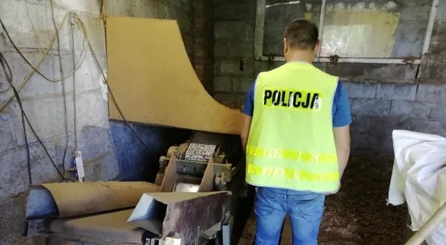 Setki kilogramów nielegalnego tytoniu przejęli policjanci ze Zduńskiej Woli. Cztery osoby zatrzymane