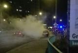 W Grudziądzu płonął samochód, w gminie Gruta - piwnica