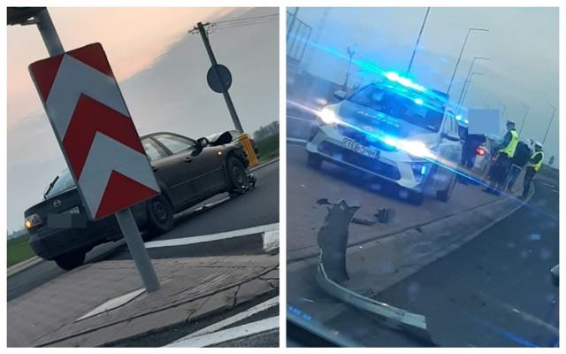 Wypadek na drodze krajowej 91 w Kowalu