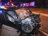 Konin: Policyjny pościg i wypadek pod budynkiem ZUS-u. Jedna osoba w szpitalu