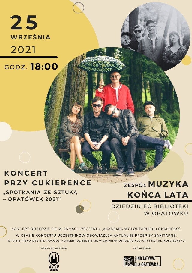 Koncert przy Cukierence w Opatówku. Wystąpi Muzyka Końca Lata