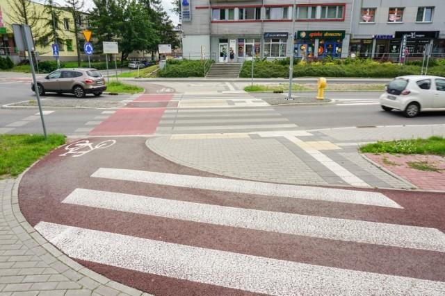 Przebudowane przejścia dla pieszych na Panewnickiej w Katowicach