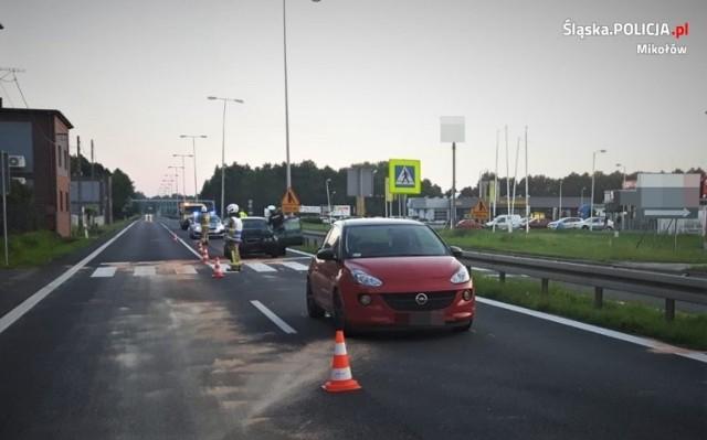 Wypadek na DK81 w Mikołowie
