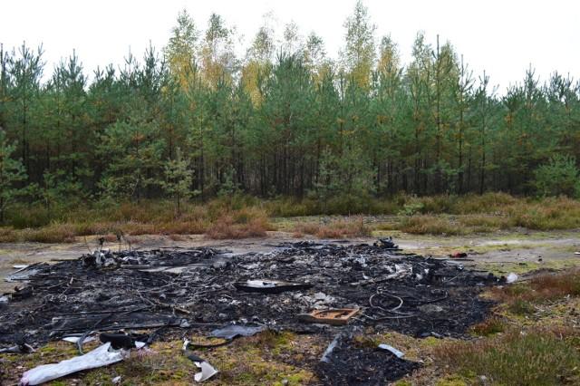Plagą stało się nocne porzucanie w Puszczy Noteckiej hałd zużytych części samochodowych i ich podpalanie.
