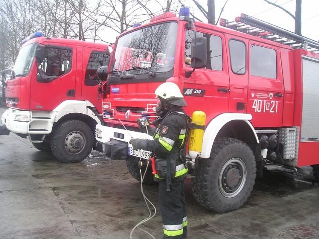Strażacy  dysponują odpowiednim urządzeniem, które potrafi określić stężenie tlenku węgla