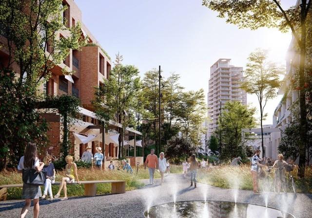 Nowy Wełnowiec to ma być nowa dzielnica Katowic na terenie po dawnej hucie. Wizualizacje przygotowali JEMS Architekci