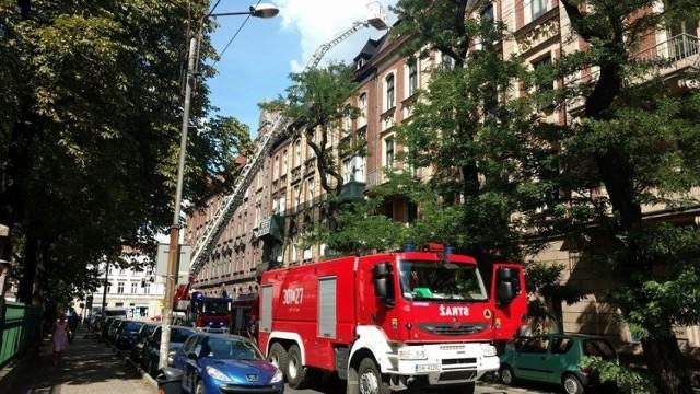 Pożar w centrum Katowic