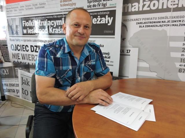 Marek Pacewicz Z Sokółki Swoje Wiersze Zapisuje W