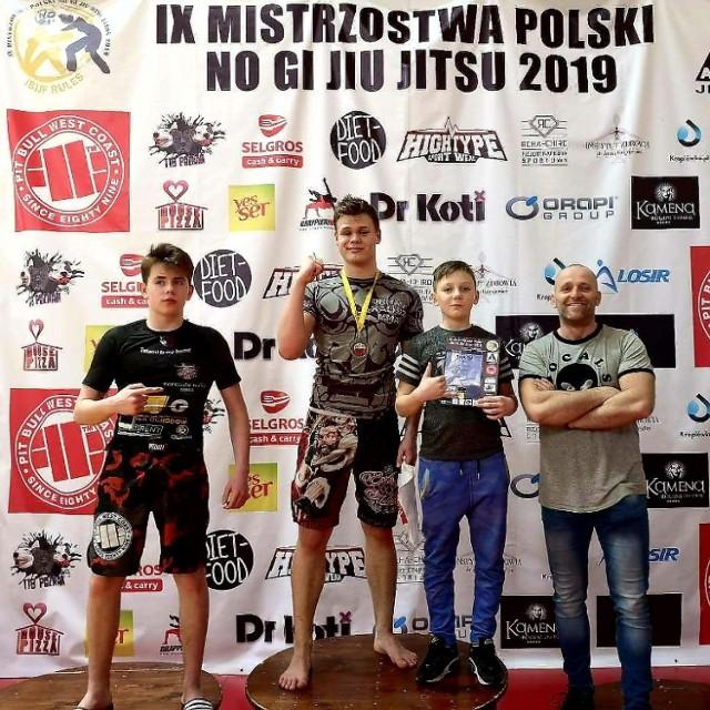 Kaliszanin Wiktor Cegła został mistrzem Polski w brazylijskim jiu jitsu