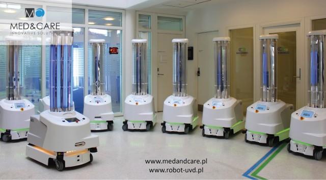Nowoczesny UVD Robot dotarł do Szpitala Powiatowego w Zawierciu.