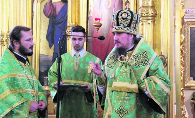 Czy o. Tokajuk (z lewej) zostanie biskupem w Hajnówce?