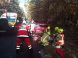 POWIAT GNIEŹNIEŃSKI: Wypadek na trasie Witkowo-Trzemeszno, droga zablokowana [FOTO]