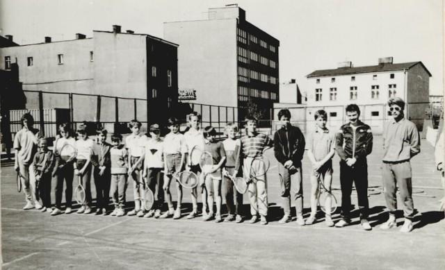 Lata 80., korty MDK w Szczecinku