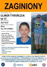 AKTUALIZACJA 13- letni chłopiec zaginął. Policja szuka Oliwera Tywończuka