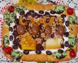 Mazurek czekoladowo-wiśniowy na kruchym cieście