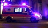 Nocny wypadek autobusu na krajówce pod Krynicą-Zdrojem