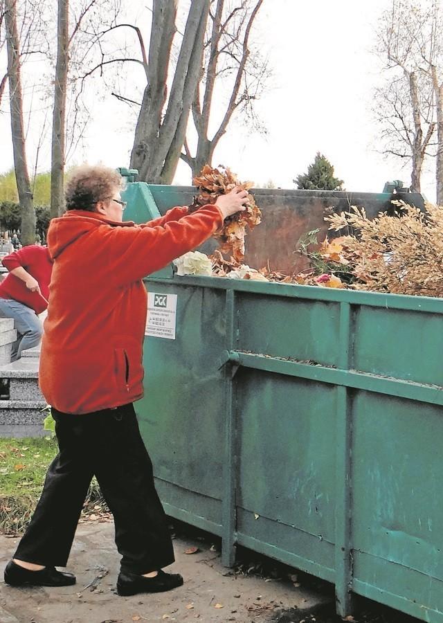 W Radomsku segregacji śmieci przy cmentarzach nie będzie