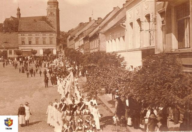 Fragment polskiej manifestacji patriotycznej w 1920 r.