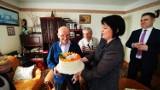 Wielkie świętowanie u Floriana Wiśniowskiego. Zasłużony mieszkaniec Łężyn skończył 100 lat [ZDJĘCIA]