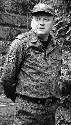 Ppłk. Ryszard Piszczek. zdjęcia: wojciech trzcionka