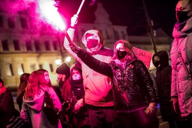 Piątek, 29.01. Tak wyglądał protest w Bydgoszczy przeciwko opublikowaniu wyroku TK.