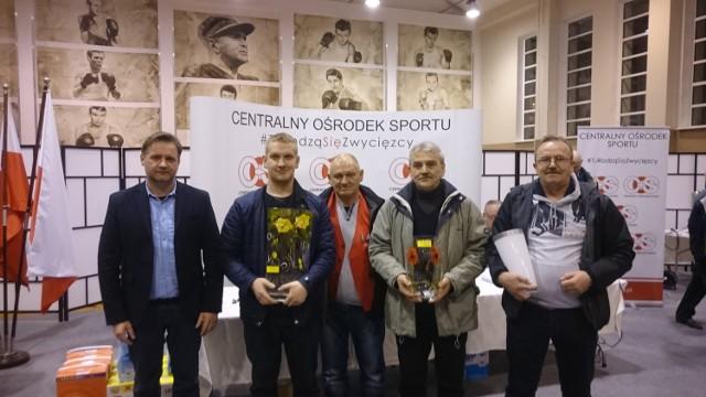 Pucka Liga Baśki, 6 turniej w COS Cetniewo: od lewej: Marka Radtke (Kłos Werblinia), Andrzej Kitowski (Zacisze Mosty), Antoni Goyka (Gran Krokowa)