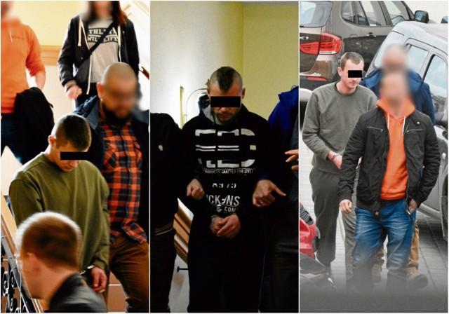 Dominik W., Wojciech D. i Dawid B., byli strażacy OSP w Kobylance, szybko zza krat nie wyjdą.