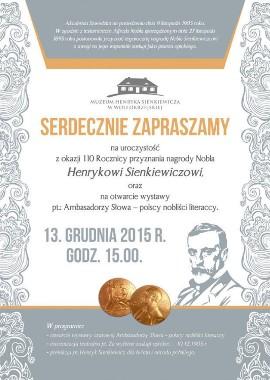 Z Okazji 110 Rocznicy Nobla Sienkiewicza W Woli Okrzejskiej