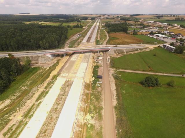 Budowa autostrady A1 w województwie śląskim (lipiec/sierpień 2018)
