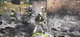 Groźny pożar w Żarach. Palił się zakład Dampol przy ulicy Serbskiej. Mamy zdjęcia z miejsca pożaru!