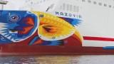 Gdyński artysta ozdabia sztuką graffiti prom pasażerski Mazovie [ZDJĘCIA, FILM]