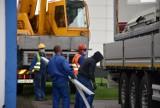 Kontenery przy CWK. Trwa budowa zaplecza dla szpitala tymczasowego w Opolu