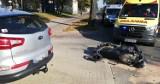 Wypadek na ulicy Szczecińskiej w Słupsku. Motocyklista trafił do szpitala [ZDJĘCIA]