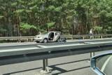 Wypadek na S3 pod Zieloną Górą. Zderzyły się dwa pojazdy, są ranni. W akcji ratunkowej uczestniczyła załoga śmigłowca LPR, straż, policja