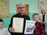 Zygmunt Kuś to SuperDziadek. Spotkanie w Zespole Szkół Publicznych nr 3 w Pleszewie
