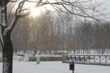 Powrót zimy w Bytomiu [ZDJĘCIA] Tak wygląda Park Miejski o poranku