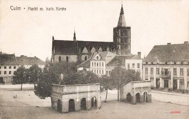 Zdjęcia Chełmna sprzed lat publikują internauci na dokumentalno-historycznym portalu www.fotopolska.eu. Tutaj: kościół Wniebowzięcia Najświętszej Maryi Panny w Chełmnie