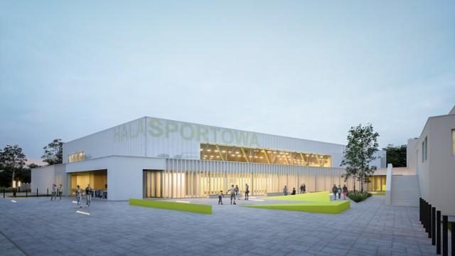 Wizualizacja sali widowiskowo-sportowej w Książu Wielkopolskim