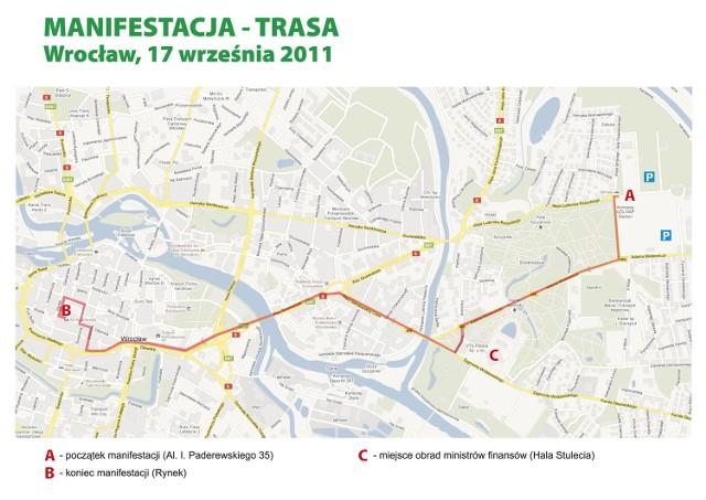 17 Wrzesnia Zwiazkowcy Przemaszeruja Przez Wroclaw Mapa Nasze