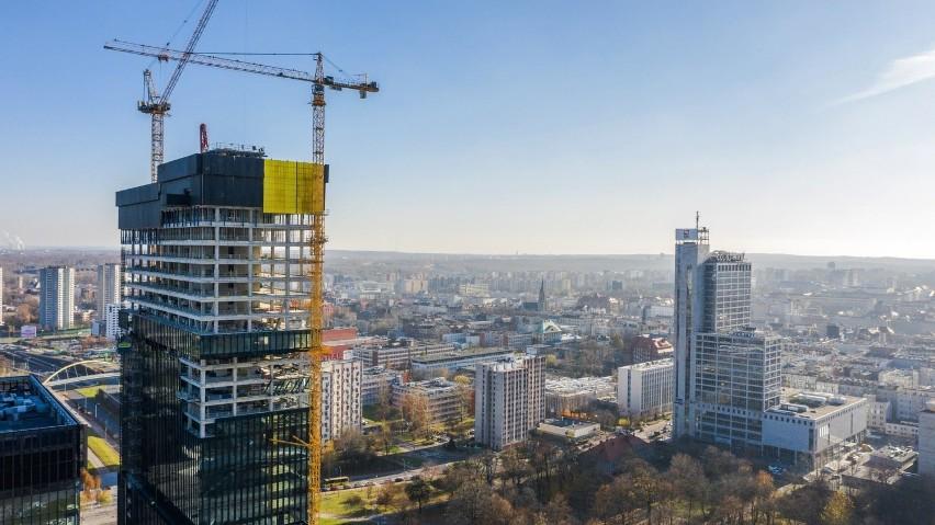 Wieżowiec .KTW II w Katowicach