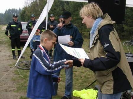 Denis Mocek najlepiej poradził sobie na crossie.  Fot. Maria Sowisło