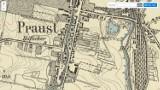 Jak wyglądał Pruszcz Gdański w XIX wieku? Zobacz historyczną mapę miasta i porównaj ją z obecnym planem!