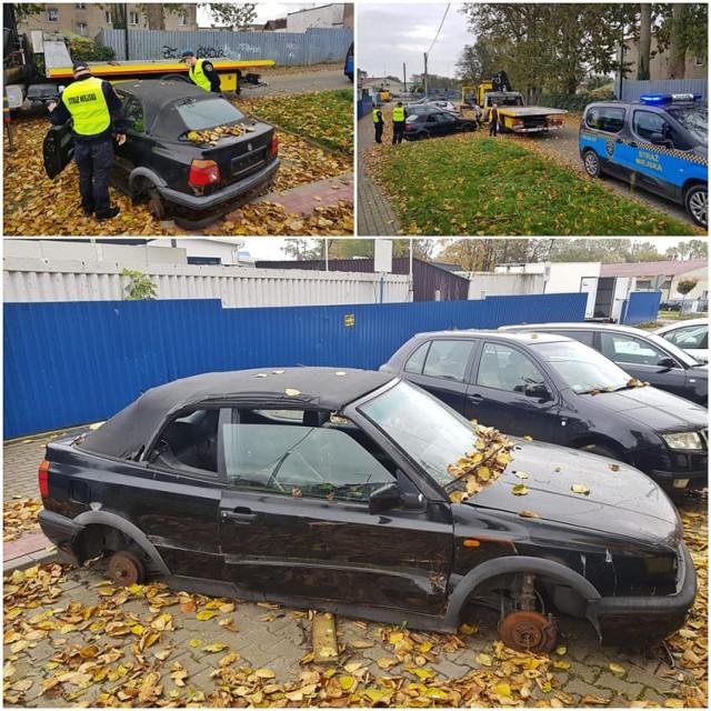 Straż Miejska we Władysławowie kontra porzucone samochody