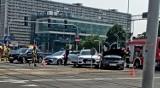 Katowice: Wypadek w centrum. Zderzenie osobówek na skrzyżowaniu ul. Sokolskiej z Chorzowską
